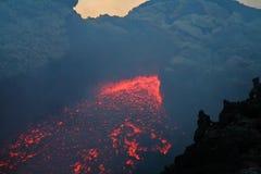 vulcan lava Arkivfoto