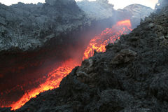 Vulcan lava Royalty Free Stock Photos