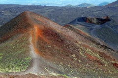 Vulcan Mount Etna on Sicily Stock Photography