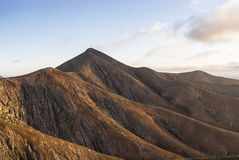 Vulcan mountains on the Canary Islands at sunset. Stock Photos