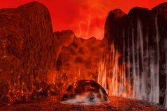 Vulcan op Mars Royalty-vrije Stock Afbeelding
