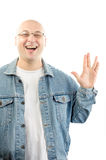 Vulcan salute Stock Photography