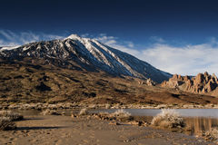 Vulcan Teide. Highest point of Spain vulcan Teide on Tenerife island on winter time Royalty Free Stock Image