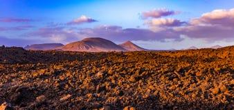 Vulcanes de Lanzarote Images libres de droits