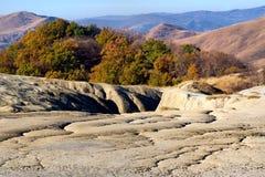Vulcani a Berca, Romania del fango Fotografia Stock Libera da Diritti