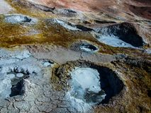 Vulcani del fango Fotografie Stock