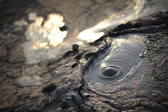 Vulcani del fango Fotografia Stock Libera da Diritti