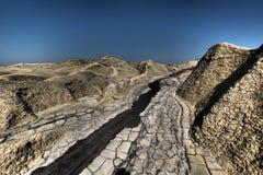 Vulcani del fango Immagini Stock