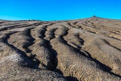 Vulcani del fango in Buzau, Romania immagini stock libere da diritti