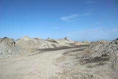 Vulcani del fango di Qobustan Immagini Stock Libere da Diritti