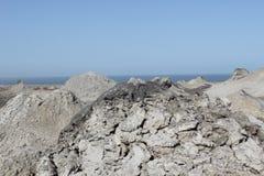 Vulcani del fango di Qobustan Fotografia Stock Libera da Diritti