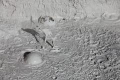 Vulcani del fango e coni del fango Fotografie Stock