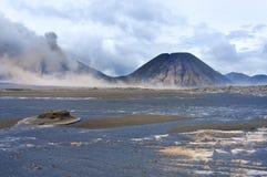 Vulcani della sosta nazionale di Bromo, Indonesia Immagini Stock Libere da Diritti