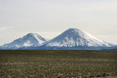 Vulcani di Cotocotani Fotografie Stock