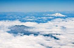 Vulcani nel Cile Fotografie Stock