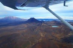 Vulcani nel parco nazionale di Tongariro, Nuova Zelanda Immagini Stock Libere da Diritti