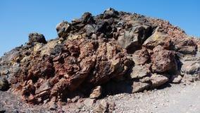 Vulcanic石头在圣托里尼,希腊 库存图片