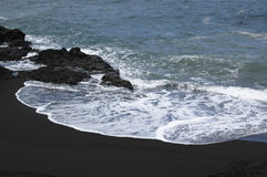 Vulcanic beach on La Palma Stock Photo
