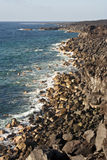 Vulcanic coastline in Lanzarote. Spain Royalty Free Stock Photography