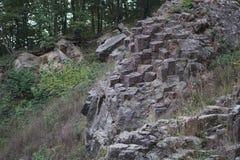 Vulcanic columnar jointing Royalty Free Stock Image