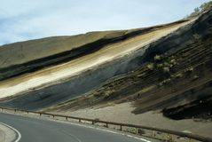Vulcanic geological layers Royalty Free Stock Photos