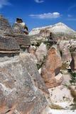 Vulcanic landscape in Cappadocia stock photography