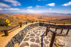 Vulcanic landscape of Fuerteventura Island from Morro Velosa view point near Betancuria village. Beautiful view to vulcanic landscape of Fuerteventura Island Stock Photography