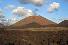 Vulcanic landscape under the extincted vulcano Royalty Free Stock Images