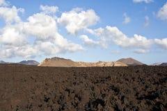 Vulcanic landscape under Stock Image