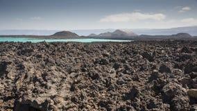 Vulcanic sjö Arkivbilder