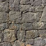 Vulcanic Stone wall Royalty Free Stock Photo