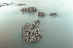 Vulcanic Stones. On the beach in hilton head island stock photography
