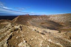 Vulcanic timanfaya  rock stone in los volcanes lanzarote spain Royalty Free Stock Image