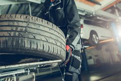 Vulcanizer Tire Replacement royalty free stock photos