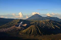 Vulcano στο εθνικό πάρκο Bromo Tengger Semeru (Ινδονησία) Στοκ Εικόνες