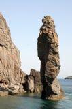 Vulcano. Rocky coast of Vulcano Island, Sicily Stock Photo