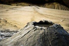 Vulcano attivo del fango Fotografia Stock Libera da Diritti