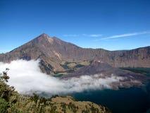 Vulcano attivo Gunung Rinjani Immagine Stock Libera da Diritti