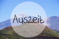 Vulcano berg, inaktiv tid för Auszeit hjälpmedel Royaltyfri Foto