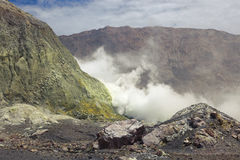 Vulcano bianco dell'isola, Nuova Zelanda Fotografia Stock Libera da Diritti