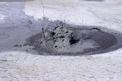 Vulcano in Buzau, Romania del fango Fotografia Stock Libera da Diritti