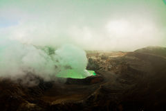 Vulcano crater lake Poas - Costa Rica royalty free stock images