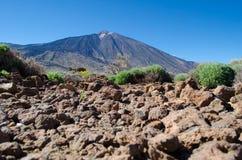 Vulcano d'EL Teide de Ténérife, Espagne Images libres de droits