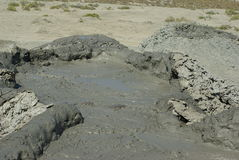 vulcano de boue Photos libres de droits