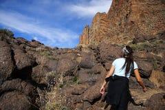 Vulcano de exploração Foto de Stock Royalty Free