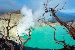 Vulcano de Kawah Ijen, Java Photographie stock libre de droits