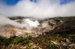 Vulcano dei poa - Costa Rica Immagine Stock