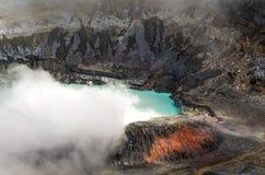 Vulcano dei poa - Costa Rica Fotografie Stock