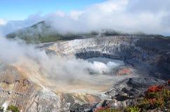 Vulcano dei poa nel Costa Rica Fotografia Stock Libera da Diritti