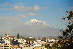 Vulcano del Chimborazo e di Riobamba, Ecuador fotografia stock